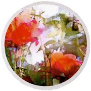 Rose 204 Round Beach Towel by Pamela Cooper