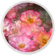 Rose 210 Round Beach Towel by Pamela Cooper