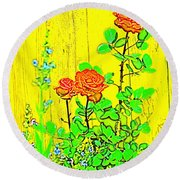 Rose 9 Round Beach Towel