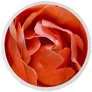 Rose Abstract Round Beach Towel by Rona Black