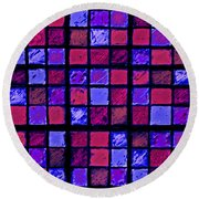 Rose And Purple Sudoku Round Beach Towel