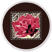 Rose By Any Other Name Round Beach Towel
