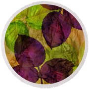 Rose Clippings Mural Wall Round Beach Towel