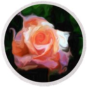 Rose Colored Round Beach Towel
