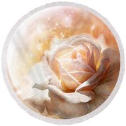Rose - Colors Of The Moon Round Beach Towel