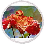 Rose Colours Round Beach Towel