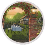 Rose Cottage - Dinner For Two Round Beach Towel