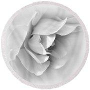 Rose Flower Soft Gray Round Beach Towel