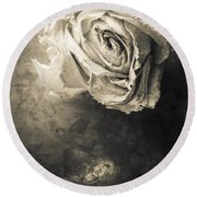 Rose From Another Day Round Beach Towel