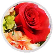 Rose Is A Rose Round Beach Towel