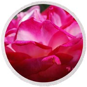 Rose Like A Lotus Flower Round Beach Towel