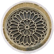 Rose Of The Cathedral Of San Giusto Round Beach Towel