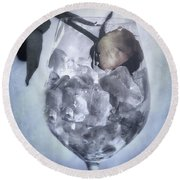 Rose On The Rocks Round Beach Towel by Joana Kruse
