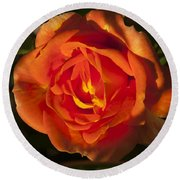 Rose Orange Round Beach Towel