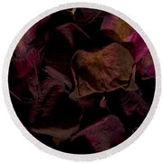 Rose Petals #4 Round Beach Towel