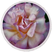 Rose Petals Straight From My Heart Round Beach Towel