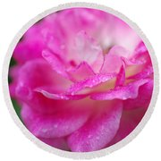 Rose Pink Round Beach Towel