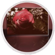 Rose Reflection 1 Round Beach Towel