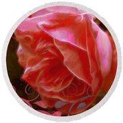 Rose Rose And Rose Round Beach Towel