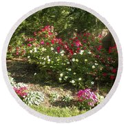 Rose Splender Round Beach Towel