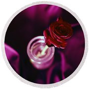 Rose Round Beach Towel by Stelios Kleanthous