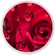 Rose Syrup Abstract 1 A Round Beach Towel
