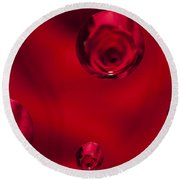 Rose Syrup Abstract 1 B Round Beach Towel