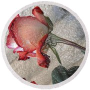 Rose To The Side 4 Round Beach Towel