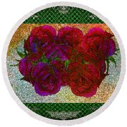 Roses- Featured In Beautiful Roses And Comfortable Art Groups Round Beach Towel