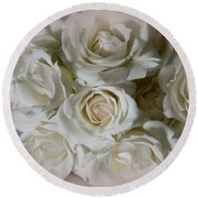 Roses For You Round Beach Towel