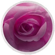 Roses Have Ruffles And Ridges Round Beach Towel