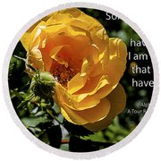 Roses Have Thorns Round Beach Towel