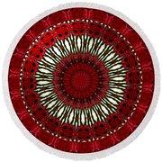 Roses Kaleidoscope Under Glass 18 Round Beach Towel