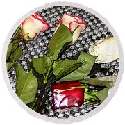 Roses From Rosa... Round Beach Towel