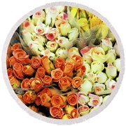 Roses 01 Round Beach Towel