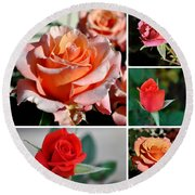 Roses Roses Roses I Thank All The Roses Round Beach Towel
