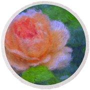 Roses Splendor Round Beach Towel