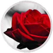 Rosey Red Round Beach Towel