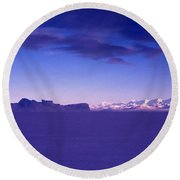 Ross-iceshelf-g.punt-1 Round Beach Towel