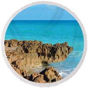 Ross Witham Beach 1 Round Beach Towel
