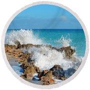 Ross Witham Beach 3 Round Beach Towel