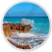 Ross Witham Beach 5 Round Beach Towel