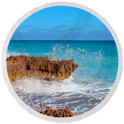 Ross Witham Beach 6 Round Beach Towel