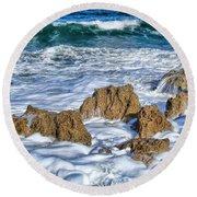 Ross Witham Beach Stuart Florida Round Beach Towel