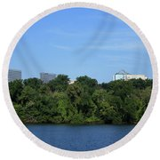 Rosslyn Above Roosevelt Round Beach Towel