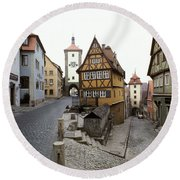 Rothenberg, Germany Round Beach Towel