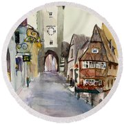 Rothenburg Round Beach Towel