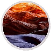 Rough Sea Round Beach Towel