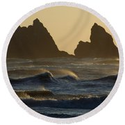 Rough Surf Round Beach Towel
