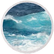 Rough Waves 1 Offshore Round Beach Towel